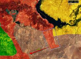 Highway Map Syrian Army Attempts To Clear Isil Pocket Along Important Highway Map