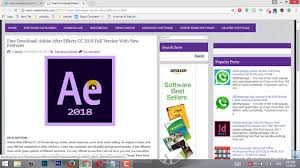 how to download free adobe after effects cc 2018 latest version