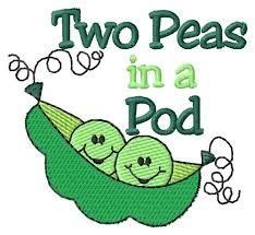 2 peas in a pod two peas in a pod embroidery design annthegran