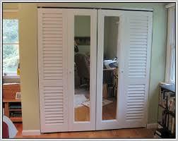 Stanley Bifold Mirrored Closet Doors White Bypass Closet Doors Diy Projects Building Closet Doors