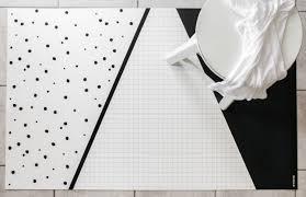 Black Kitchen Mat Rugs Black And White Geometric Rug Kitchen Rug Minimalist Kids