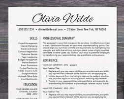 Mac Word Resume Templates Resume Template Professional And Modern Resume Cv Template