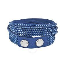 leather bracelet swarovski images Swarovski slake dark blue bracelet 5037393 swarovski ladies jpg