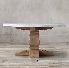 marble top pedestal table all round oval tables rh