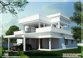 kerala flat roof house plans modest also home design u0026 garden rcc