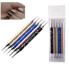 biutee 5 x 2 way dotting pen set nail art dotting tools high grade