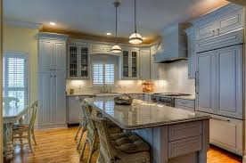 Country Kitchens With White Cabinets by Country Kitchen With Pendant Light U0026 Built In Bookshelf In Tampa