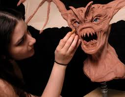 Cinema Makeup Schools Beware The Bat Sculpture By Midge Ordonez Cms Cinema Makeup