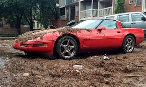 atlanta corvette c4 corvette drowns when streets in atlanta flooded on sunday