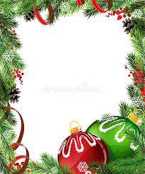 and green tree decorations with stock vector