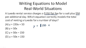 solving word problems involving writing equations example 1