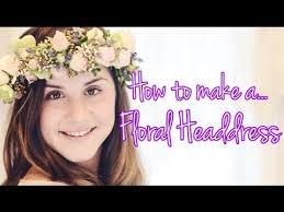 floral headdress how to make a floral headdress