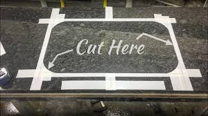 how to cut granite for sink how to cut polish undermount sink in granite by hand youtube