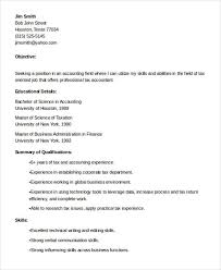 Accounting Resume Objective Examples by 24 Accountant Resume Templates In Pdf Free U0026 Premium Templates