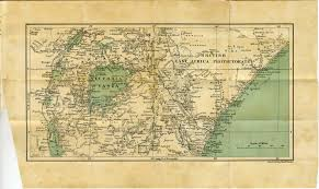 Eastern Africa Map by Alfred Bz Diary 1910a Europe U0026 Africa Safari