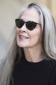 long gray hairstyles for women over 50 10 chic hairstyles over 50 amazing grays silver and whites