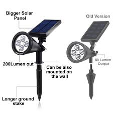 Solar Patio Lights Amazon by New Version 2 Modes 200 Lumens Solar Wall Lights In Ground