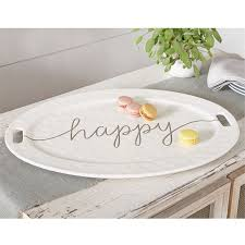 ceramic serving platter large happy ceramic serving platter mud pie