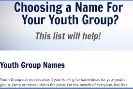 Ideas With A Name Best Youth Names Digilu