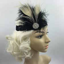 gatsby headband aliexpress buy vintage feather 1920s headpiece fascinators