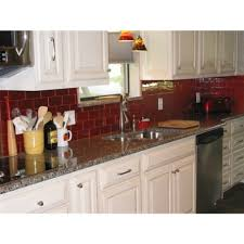 inspiring red glass subway tile backsplash pics decoration