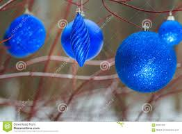 outdoor christmas decorations with ultramarine shiny bauble