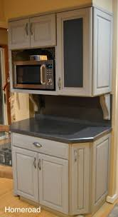 Microwave In Kitchen Cabinet by Kitchen Room Faebbccdcaea Paris Grey Microwave Cabinet