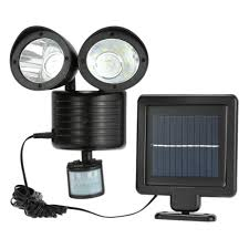 lixada 22leds solar powered rotatable adjustable double dural