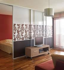 elegant bedroom ideas with 3 panel brown floral wall divider ikea
