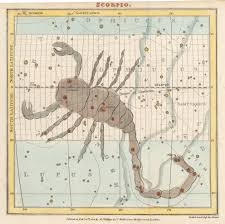 Map Of Mexico 1821 Antique Celestial Map Scorpio Hjbmaps Com U2013 Hjbmaps Com Harlan