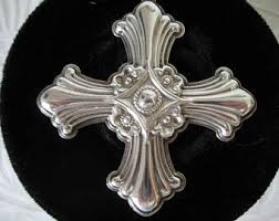 vintage sterling silver reed barton cross