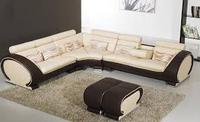 Leather And Wood Sofa Free Shipping Large L Shaped Genuine Leather Wood Frame
