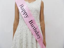 happy birthday sash birthday pink ribbon women princess sashes pink band happy birthday
