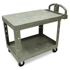 rubbermaid service cart with cabinet commercial flat shelf utility cart 2 shelf 25 7 8w x 43 7 8d x 33