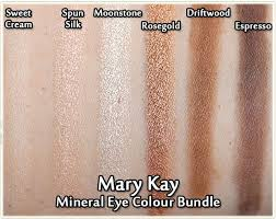mary kay mineral eye colour bundle sweet cream spun silk moonstone rosegold
