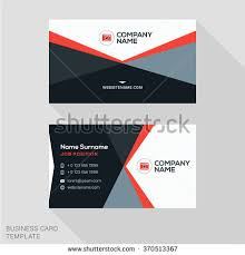 Flat Design Business Card Creative Clean Business Card Template Flat Stock Vector 380063341