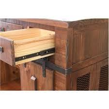 Stickley Kitchen Island Crafters And Weavers Granville 3 Drawer Kitchen Island W 2 Sliding