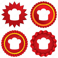 symbole cuisine icône de signe de chapeau chef symbole de la cuisine image