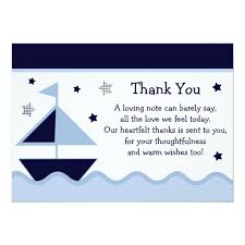 nautical thank you cards nautical sailboat navy baby shower thank you card zazzle