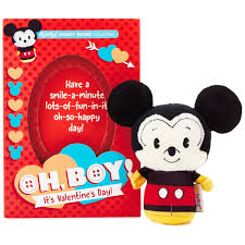 s day mickey mouse itty bittys mickey mouse s day card with stuffed animal
