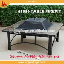 Bbq Tables Outdoor Furniture by Kingjoy Garden Wood Burning Marble Top Table Firepit With Bbq