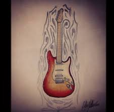 guitar tattoo design by eletrikcity on deviantart