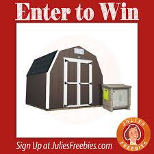 backyard storage sweepstakes julie u0027s freebies