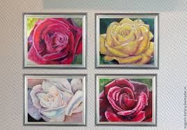 satin roses buy painting satin on livemaster online shop