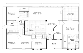 the tradewinds is a beautiful 4 bedroom 2 bath triple wide 2500 sq ft modular house plans single story change the office to formal dinning and make the slanted wall all open