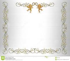 wedding invitation border gold hearts stock photos image 6667303