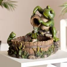family frog indoor outdoor tabletop fountain hayneedle