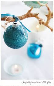 Peacock Blue Christmas Decorations by 38 Best Christmas Turquoise Images On Pinterest Turquoise