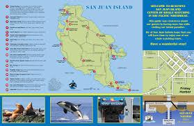 Seattle Tourist Map by Print A Map San Juan Safaris San Juan Island Whale Watching Tours
