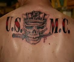 army skull on back